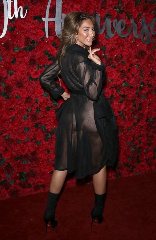 Farrah Abraham Sexy Sheer Dress