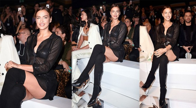 Irina Shayk – Sexy Legs at Intimissimi fashion show in Verona