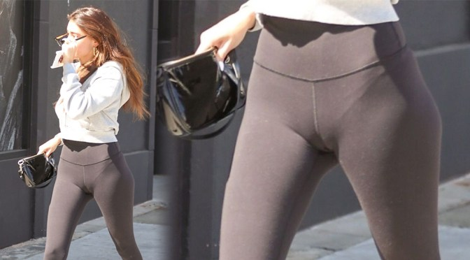 Madison Beer – Sexy Camel-Toe in Leggings Out in Beverly Hills