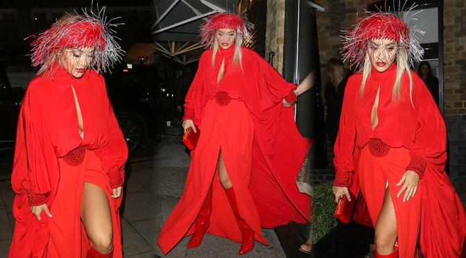 Rita Ora – Sexy Upskirt at Chiltern Firehouse in London