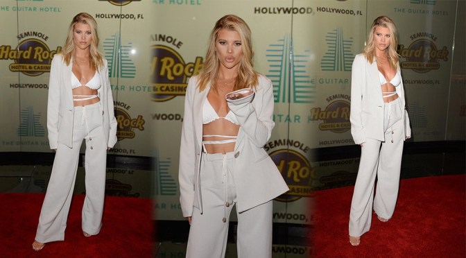Sofia Richie – Sexy Boobs at Guitar Hotel Grand Opening in Hollywood