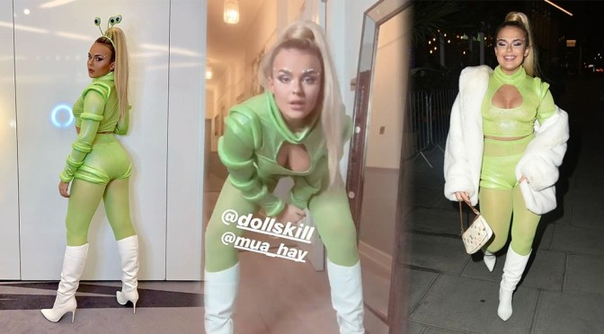 Tallia Storm – Sexy Candids at Halloween Party in London