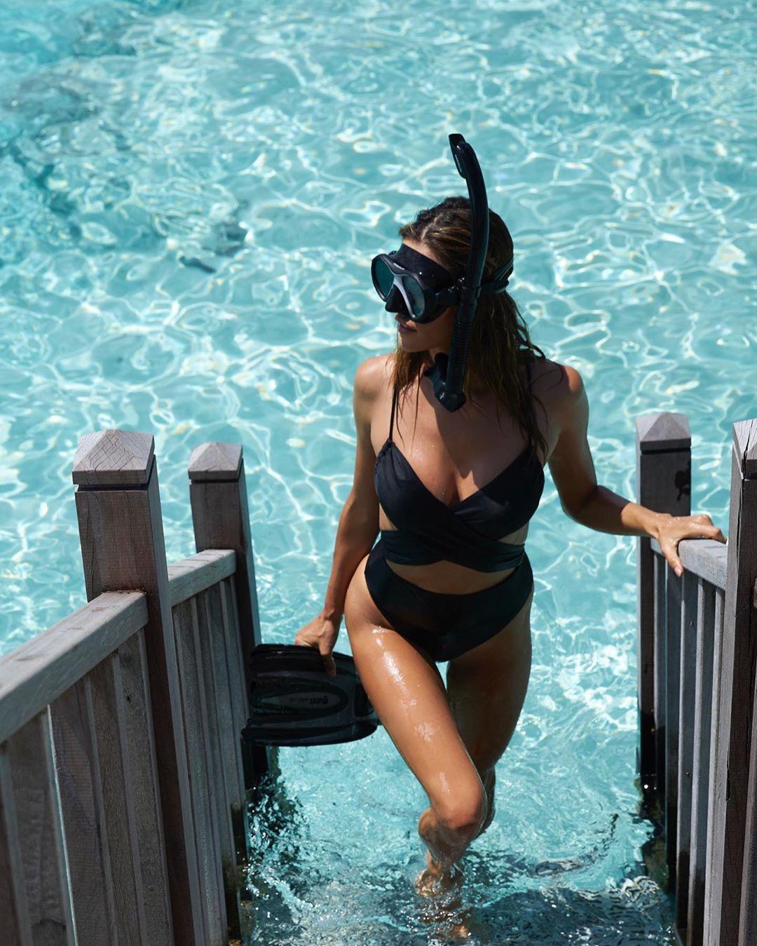 Alessandra Ambrosio Hot Black Swimsuit