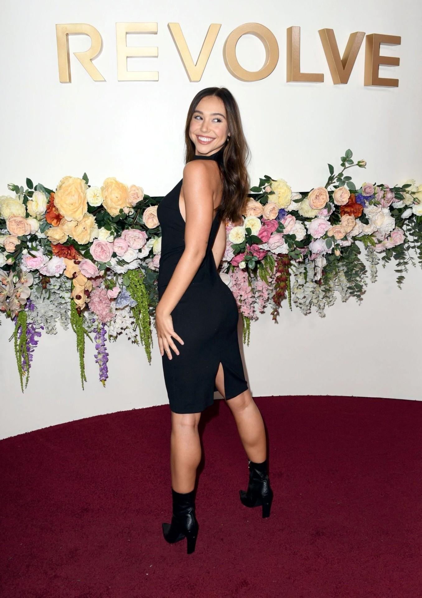Alexis Ren Sexy Black Dress