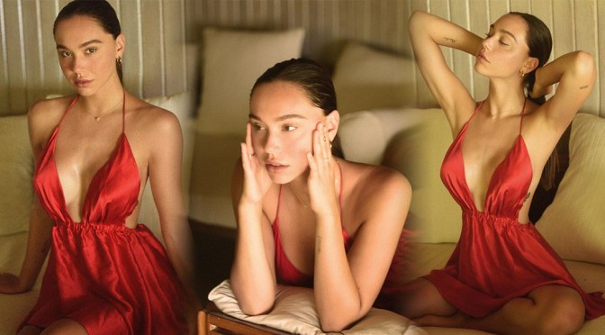 Alexis Ren – Sexy Red Dress Photoshoot