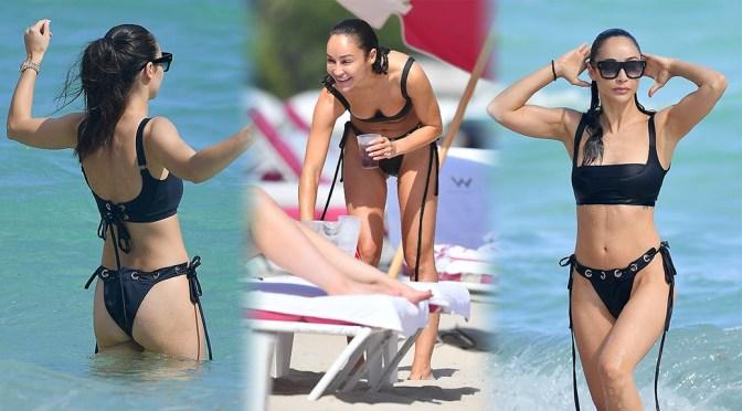 Cara Santana – Sexy Black Bikini on the Beach in Miami