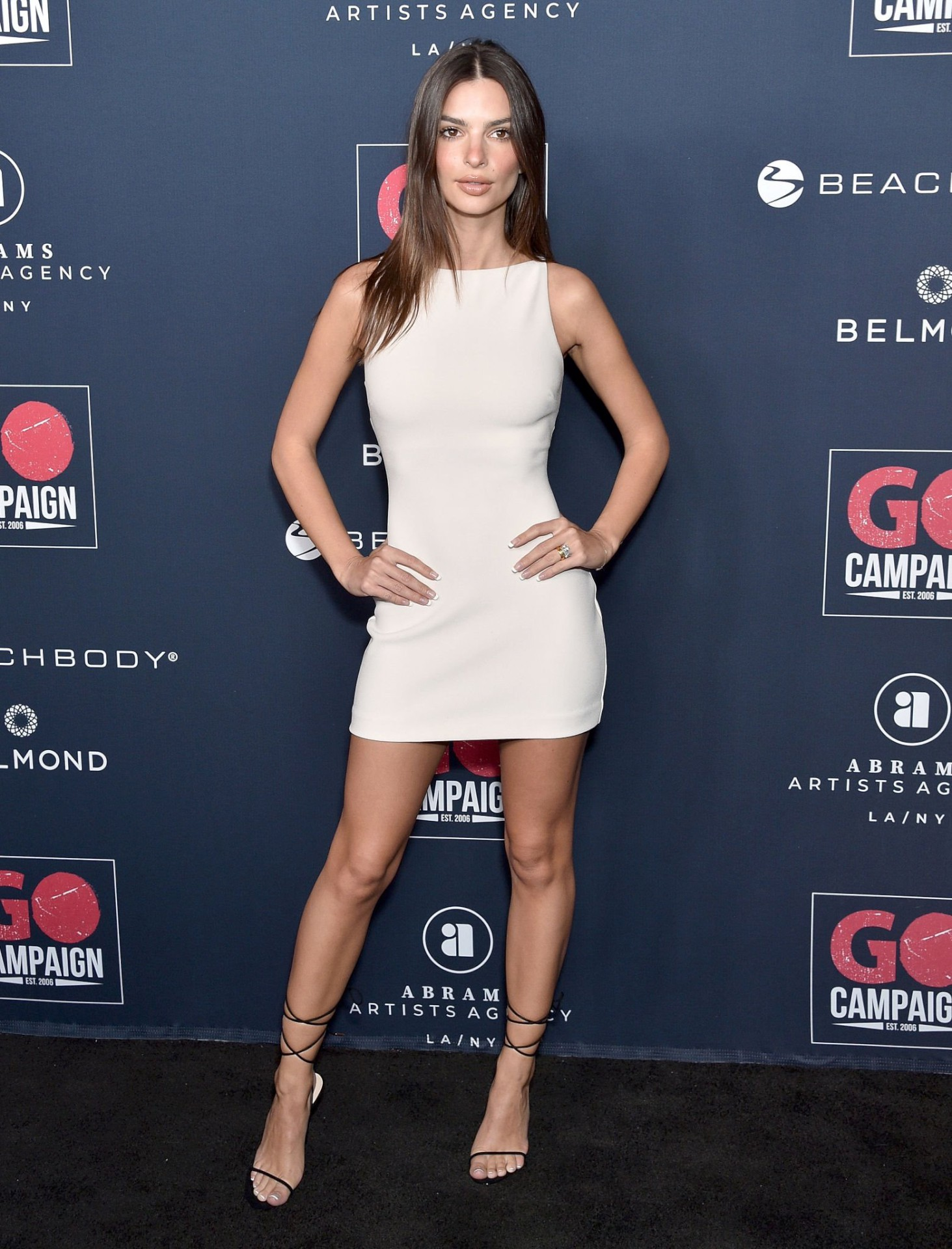 Emily Ratajkowski Tight White Dress