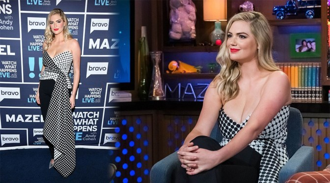 Kate Upton – Sexy Big Cleavage on Watch What Happens Live