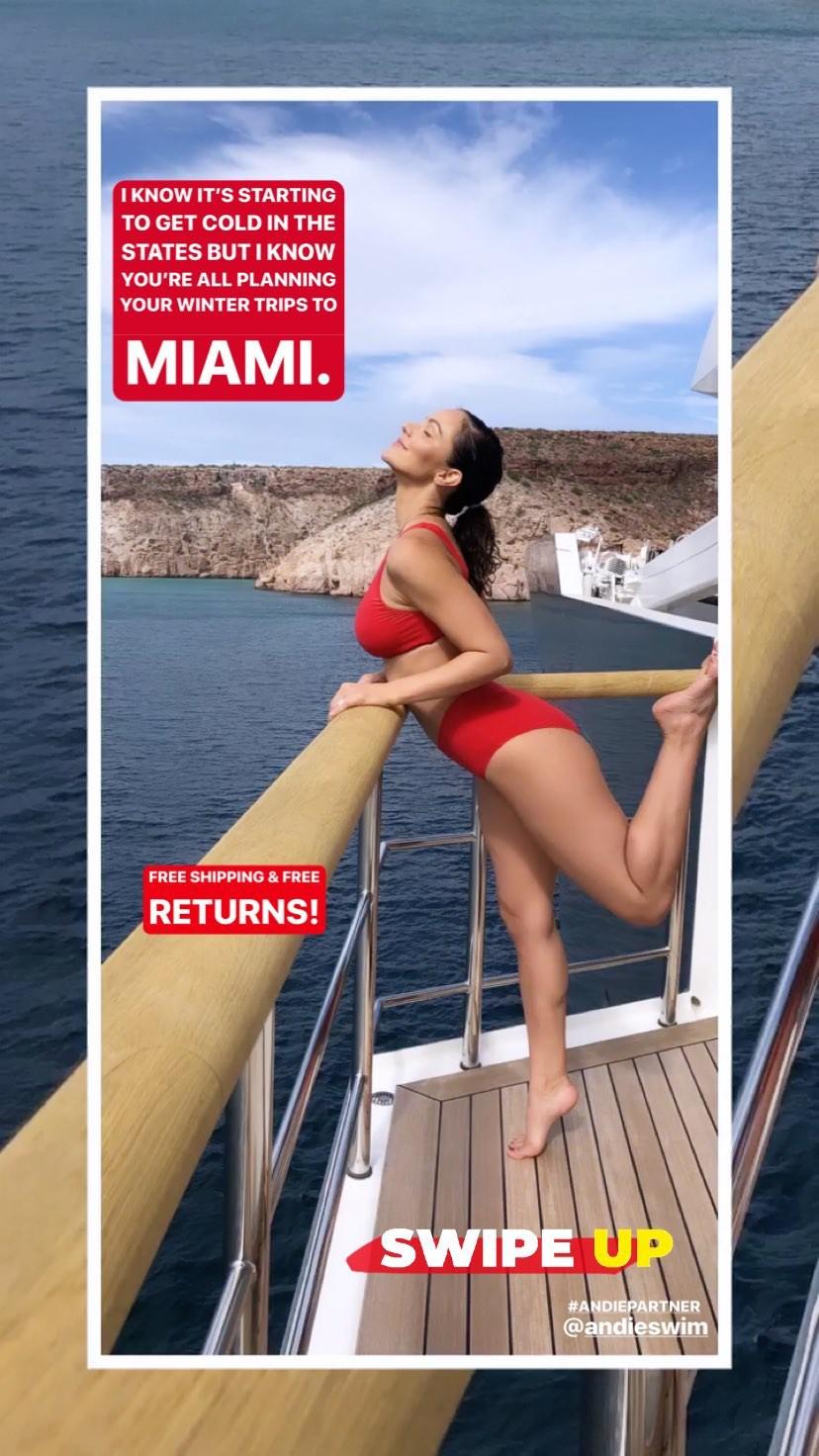Katharine Mcphee In A Red Bikini