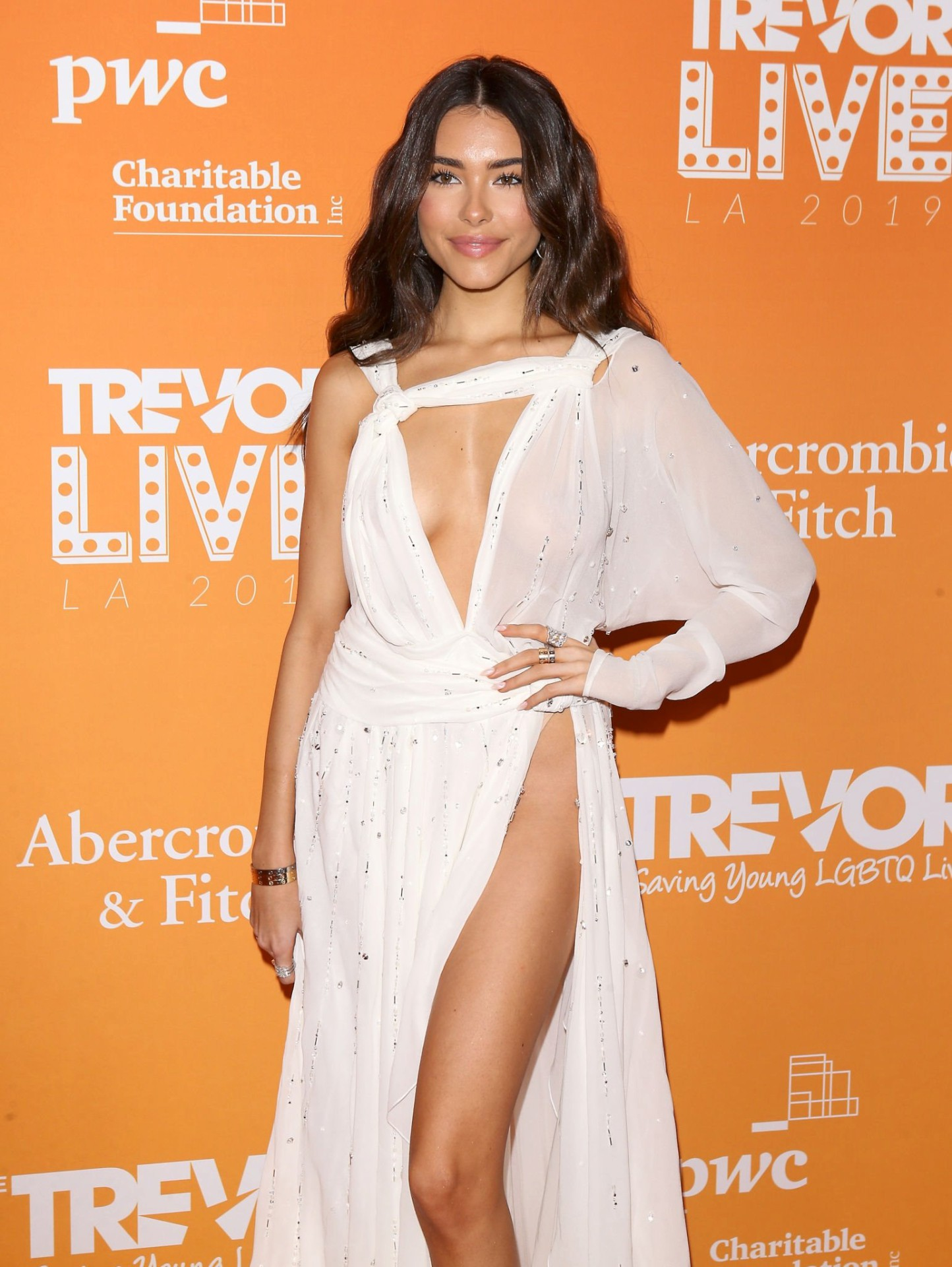 Madison Beer Sexy Revealing Dress