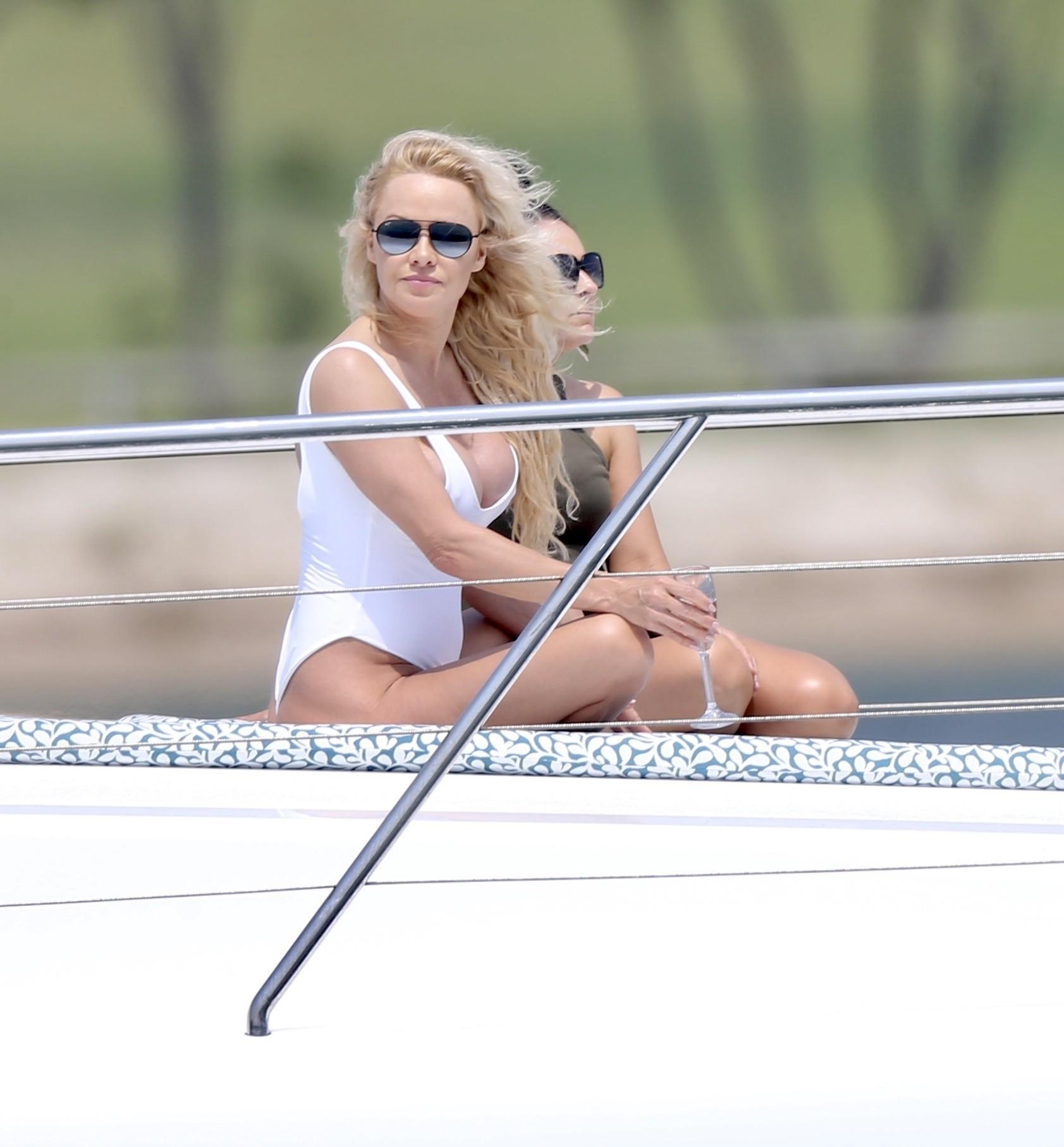 Pamela Anderson White Swimsuit
