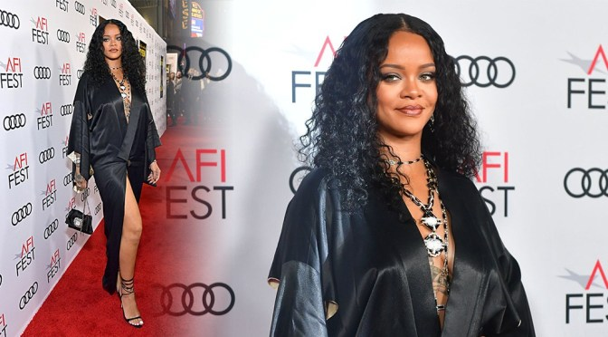 """Rihanna – Braless and Leggy at """"Queen & Slim"""" Premiere in Hollywood"""