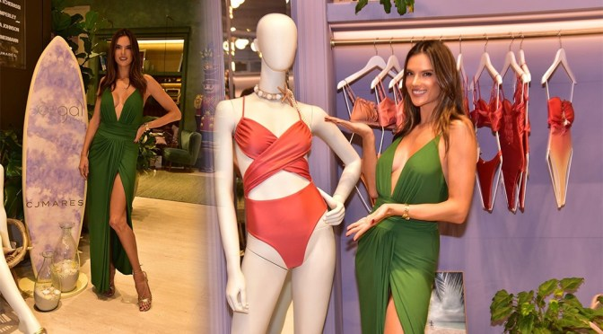 "Alessandra Ambrosio – Sexy Boobs and Legs at ""GAL Floripa"" store Opening in Sao Paulo"
