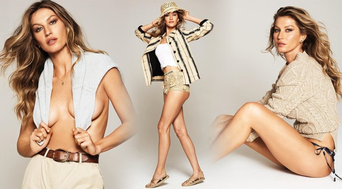 Gisele Bundchen – Leggy and Braless in Harper's Bazaar Magazine Photshoot