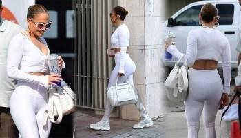 Jennifer Lopez Sexy Big Ass In Leggings