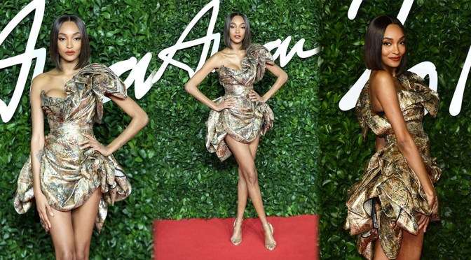 Jourdan Dunn – Sexy Long Legs at Fashion Awards 2019 in London