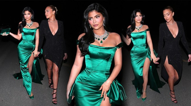 Kylie Jenner – Sexy Revealing Dress at the Kardashian's Christmas Eve Bash in Los Angeles