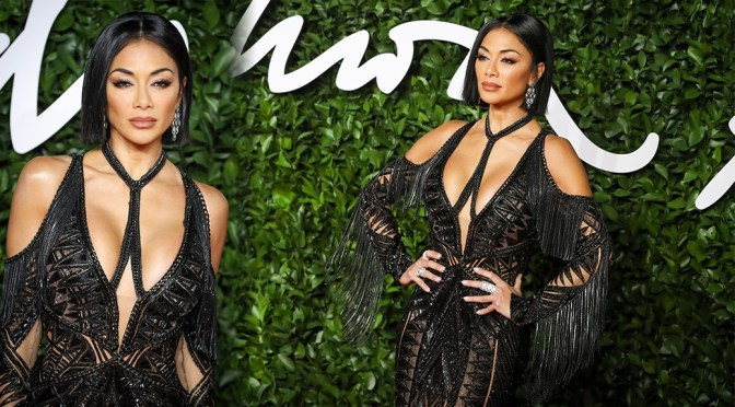 Nicole Scherzinger – Sexy Big Boobs at Fashion Awards 2019 in London