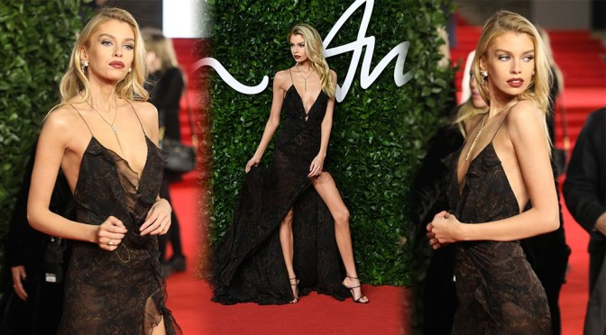 Stella Maxwell – Sexy Littel Dress at Fashion Awards 2019 in London