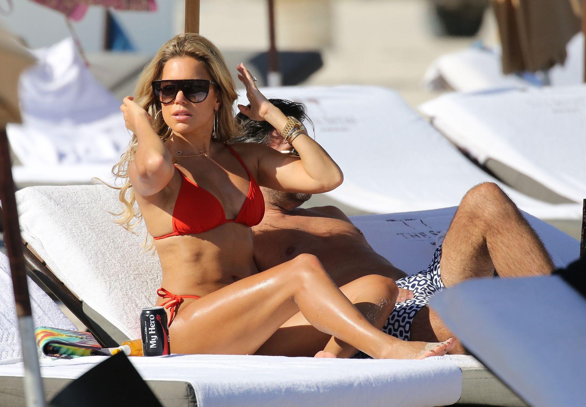 Sylvie Meis Red Bikini