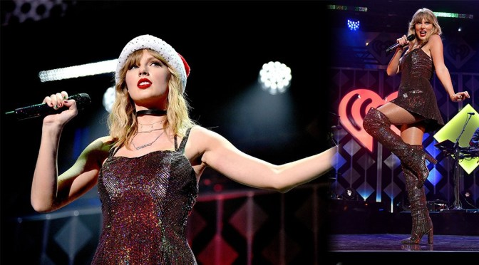 Taylor Swift – Sexy Legs in Boots at Z100's iHeartRadio Jingle Ball 2019 in New York