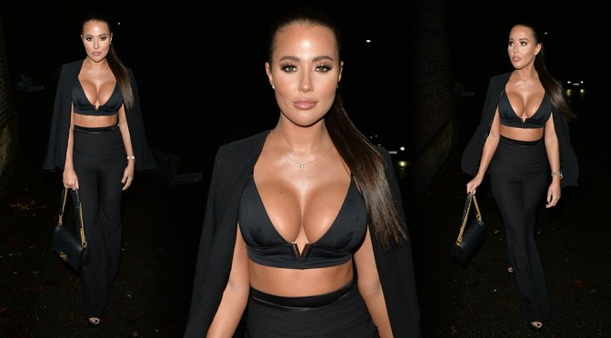 Yazmin Oukhellou – Sexy Big Boobs at Sheesh Chigwell in London