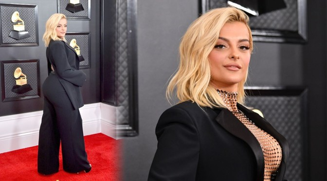 Bebe Rexha – Sexy Cleavage and Big Ass at 62nd Annual Grammy Awards in Los Angeles