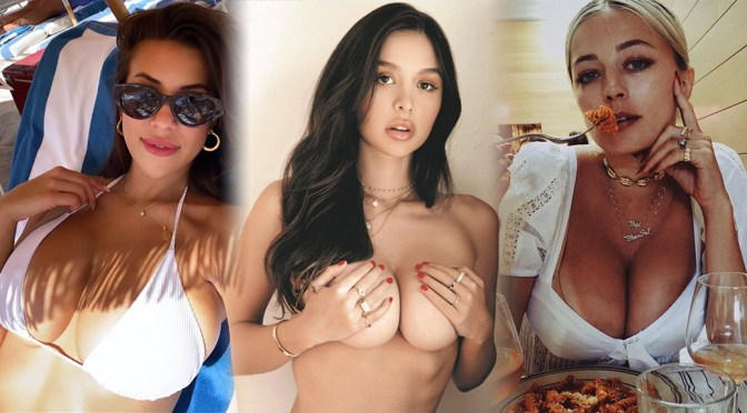 Sophie Mudd's Big Topless Breasts and Other Celebrities in a Weekly Instagram/Twitter Roundup