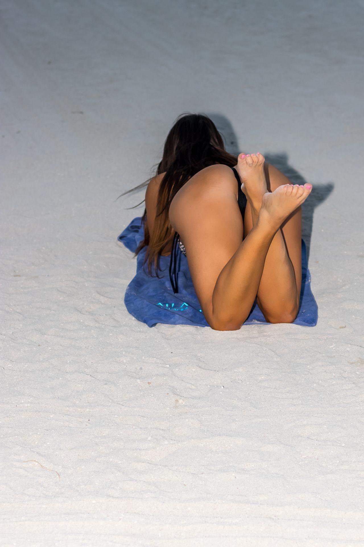Claudia Romani Sexy Tiny Bikini
