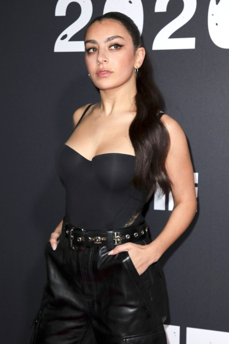 Charlie Xcx Sexy Boobs In Black Top