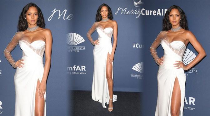 Lais Ribeiro – Sexy Boobs and Legs at 2020 amfAR New York Gala