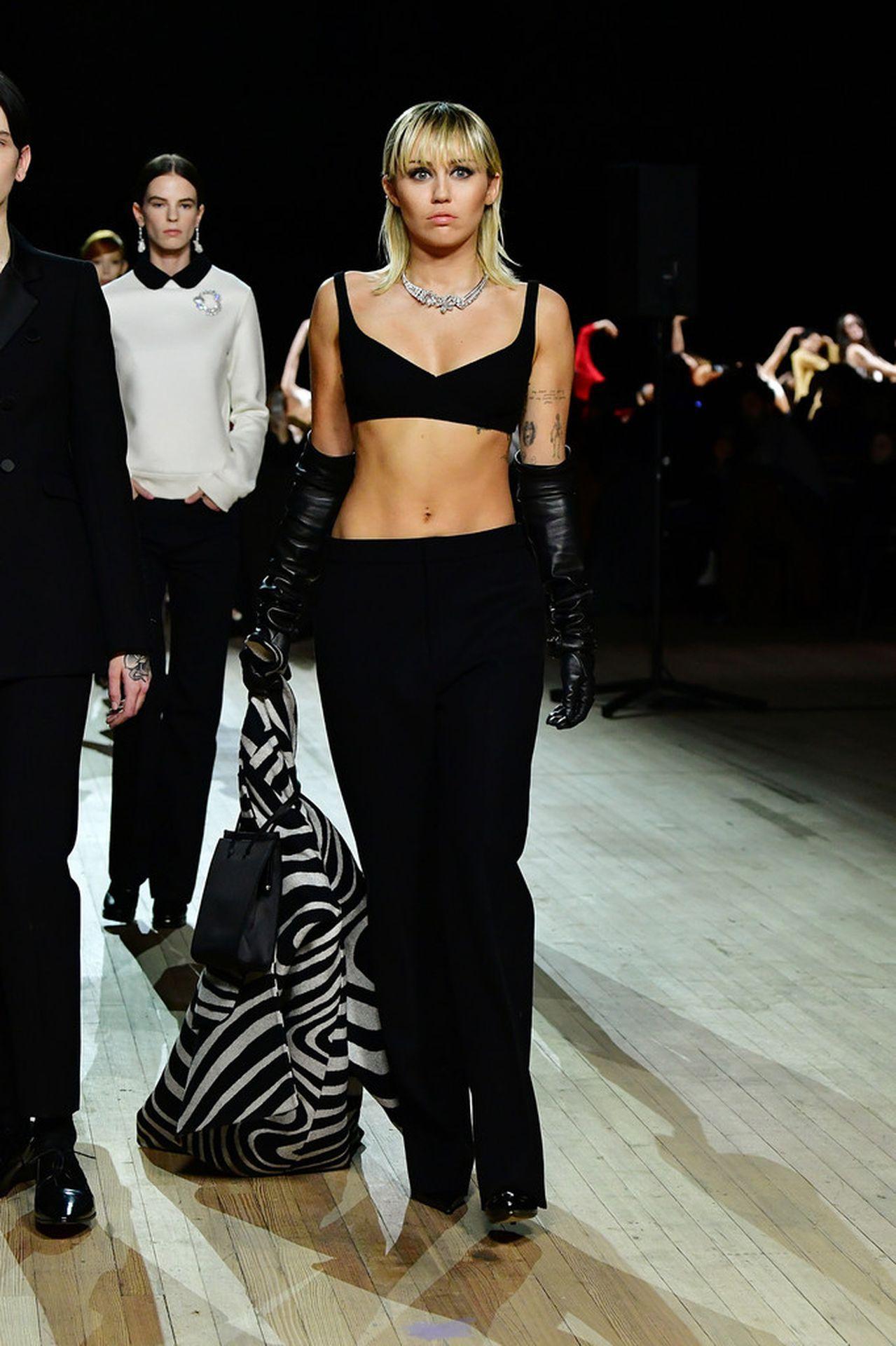 Miley Cyrus Black Bra