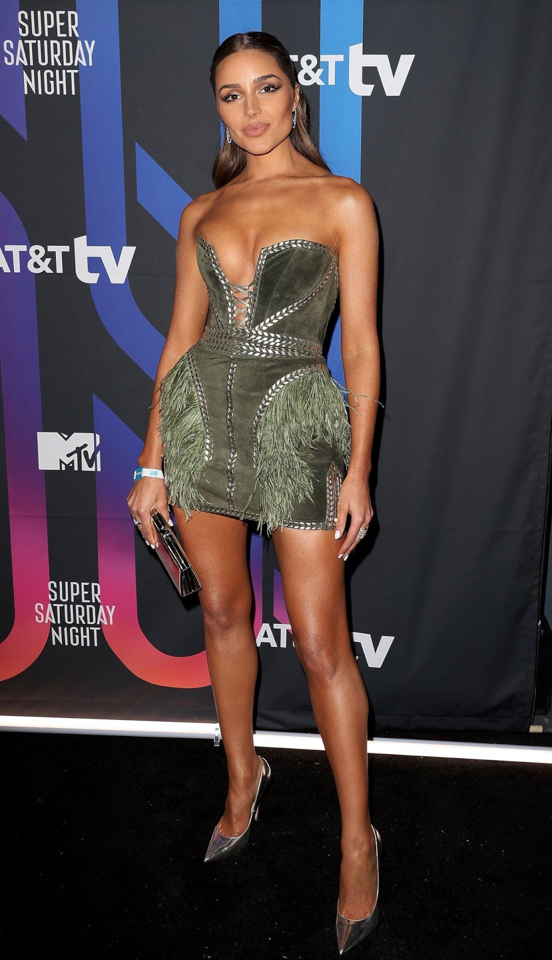 Olivia Culpo Sexy Little Dress