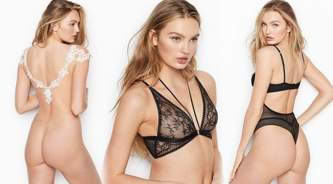 Romee Strijd – Sexy Ass and Boobs in Victoria's Secret See-Through Lingerie Photoshoot