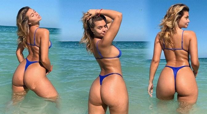 Sofia Jamora – Sexy Big Ass in Thong Bikini Photoshoot