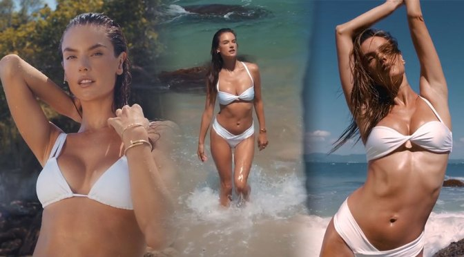 "Alessandra Ambrosio – Sexy Boobs in ""Wave & Flow"" Bikini Video (March 2020)"
