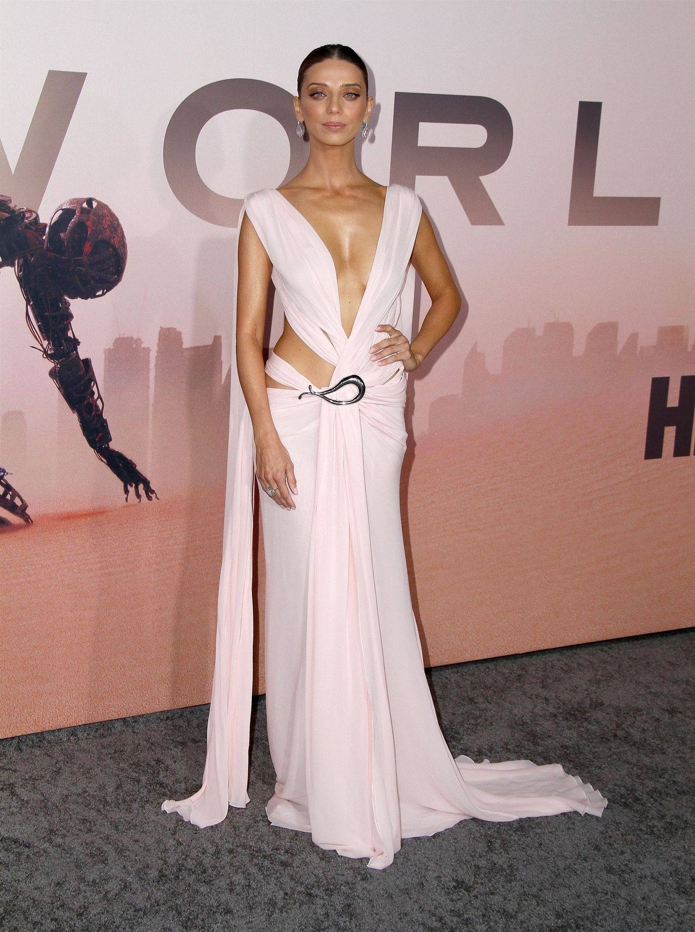 Angela Sarafyan Braless Cleavage
