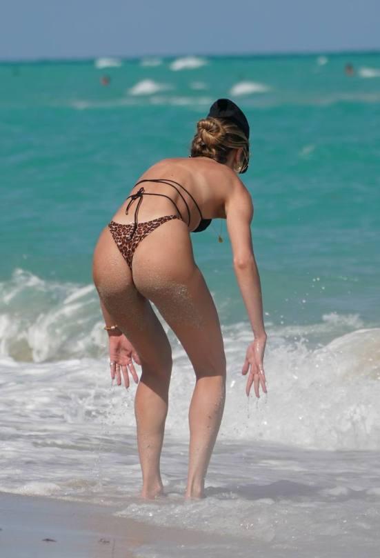 Candice Swanepoel Sexy Thong Bikini
