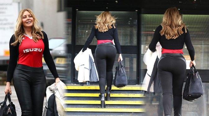 Carol Vorderman – Sexy Pokies and Big Ass at the BBC Studios in Llandaff
