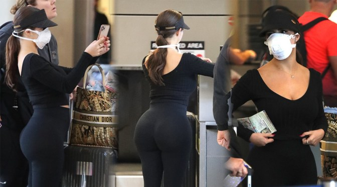 Demi Rose Mawby – Huge Sexy Ass in Black Spandex at Los Angeles Airport
