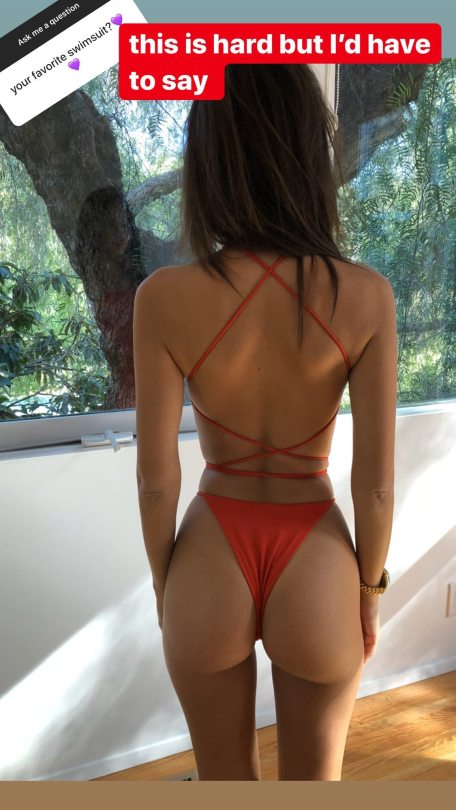 Emily Ratajkowski Perfect Ass In Thong Bikini