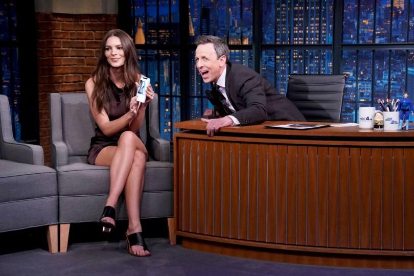 Emily Ratajkowski Sexy Legs On Tv Show