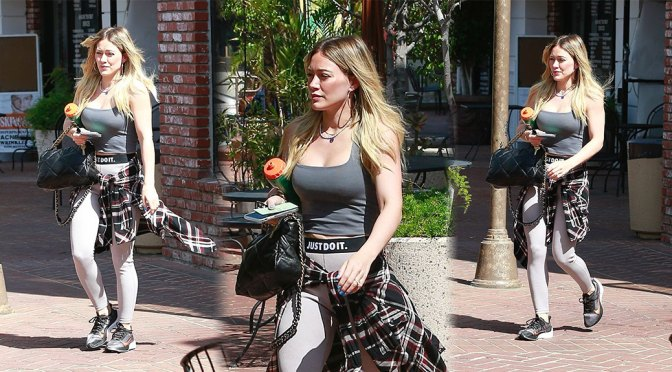 Hilary Duff Big Boobs In Gym Outfit