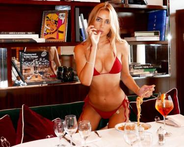 Kimberley Garner Tiny Red Bikini