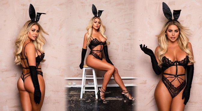 Bianca Gascoigne – Sexy Easter Bunny Lingerie Photoshoot