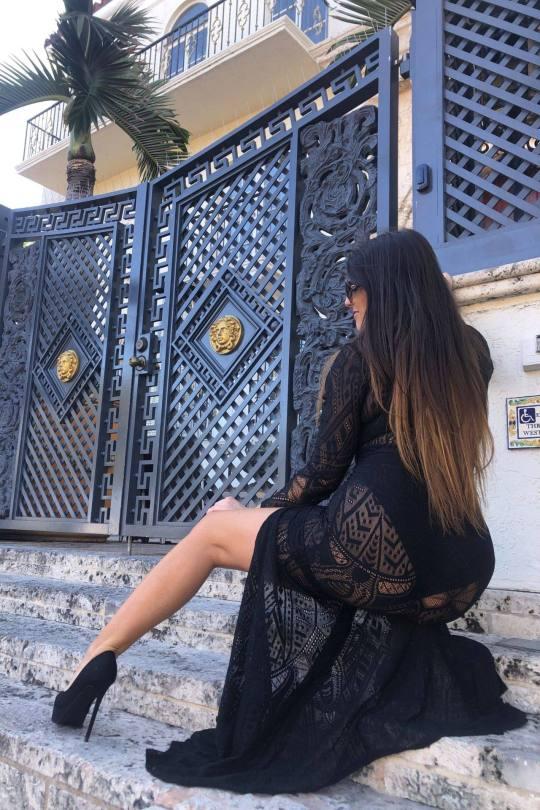 Claudia Romani In Sexy Black Dress