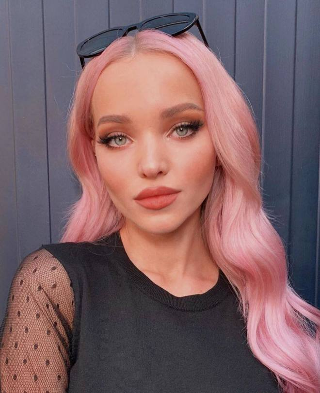 Dove Cameron Hot With Pink Hair