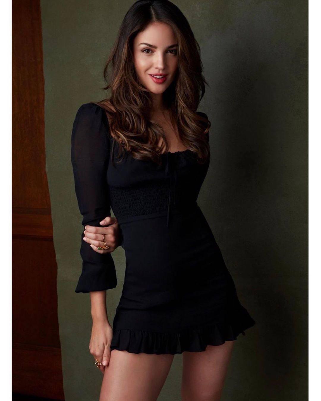 Eiza Gonzalez Beautiful In Black Dress