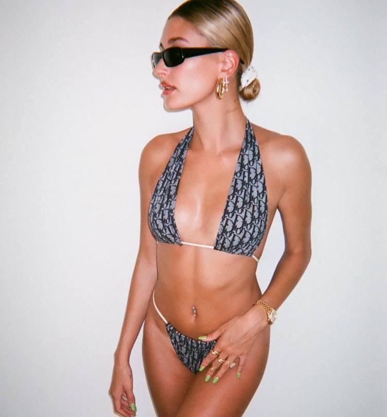 Hailey Bieber Sexy In Small Bikini