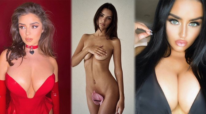 Emily Ratajkowski Naked with Tiny Flower and Other Celebrities in a Weekly Instagram/Twitter Roundup